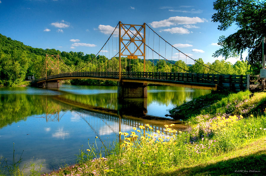 Arkansas Photograph - Beaver Town Bridge by Jerry Williamson