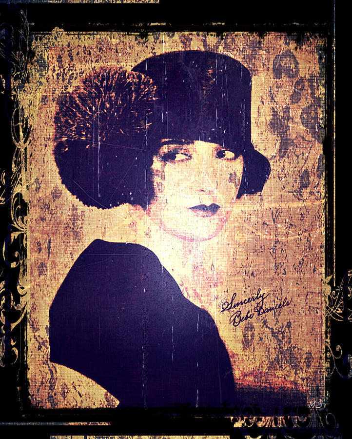 B Daniels Photograph - Bebe Daniels - 1920s Actress by Absinthe Art By Michelle LeAnn Scott
