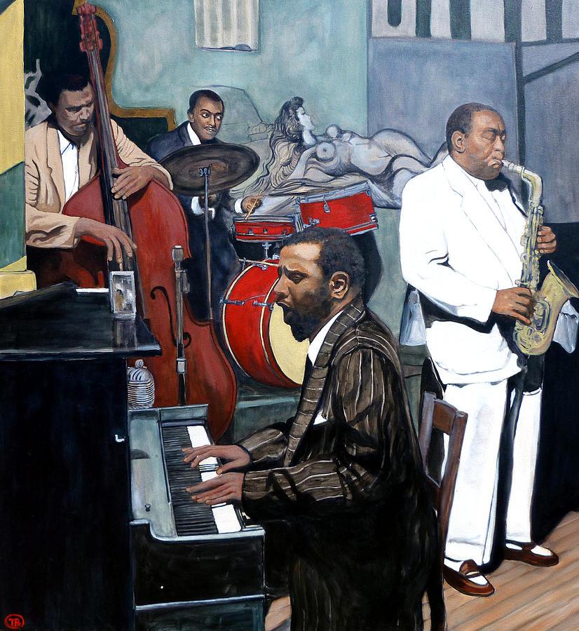 Jazz Painting - Bebop til You Drop by Tom Roderick