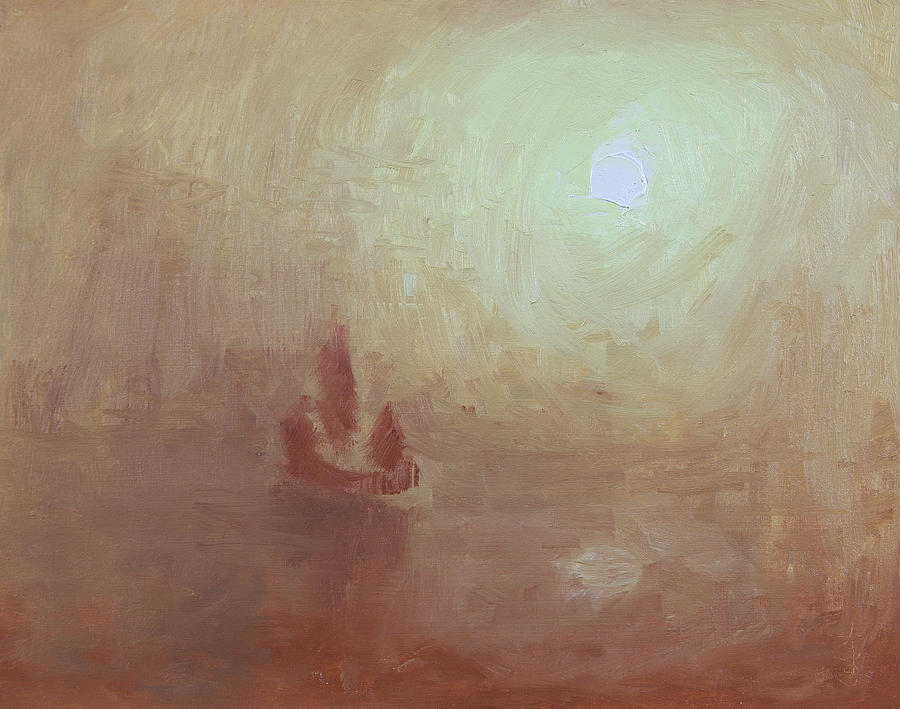 Boat Painting - Becalmed by Anthony Sell