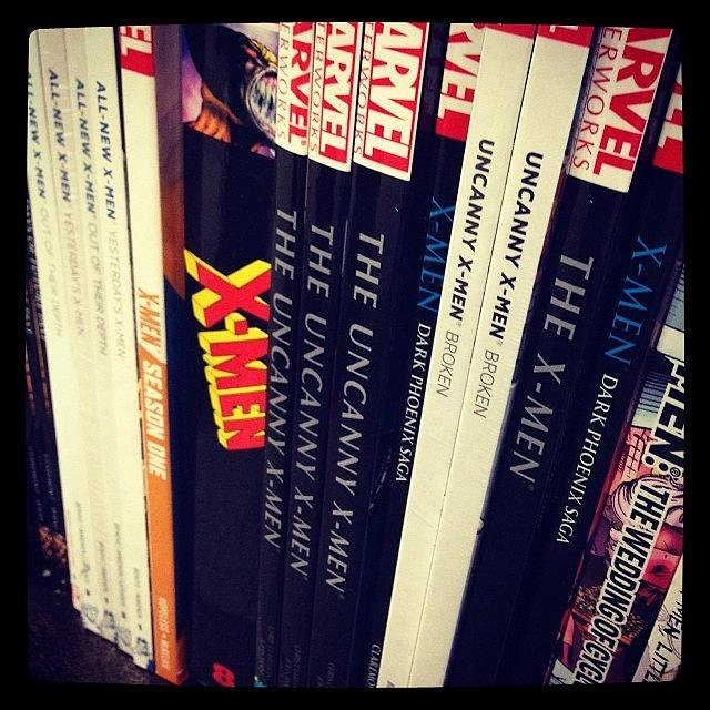 Comics Photograph - Because I Love Books And X-men #comics by Kristine Dunn