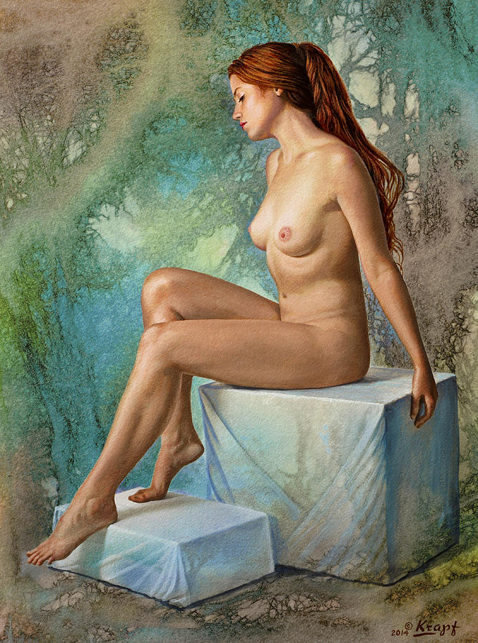 Nude Painting - Becca 014 In Abstract 2 by Paul Krapf