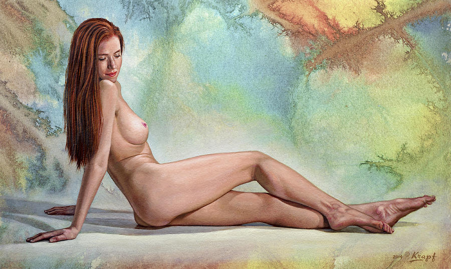 Nude Painting - Becca 428 In Abstract by Paul Krapf