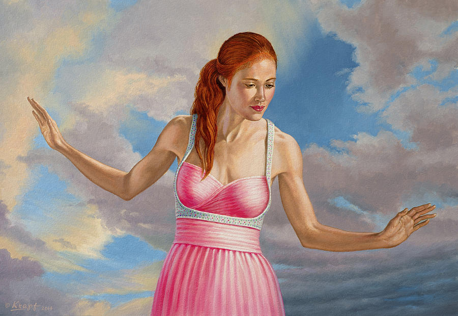Figure Painting - Becca In Pink by Paul Krapf