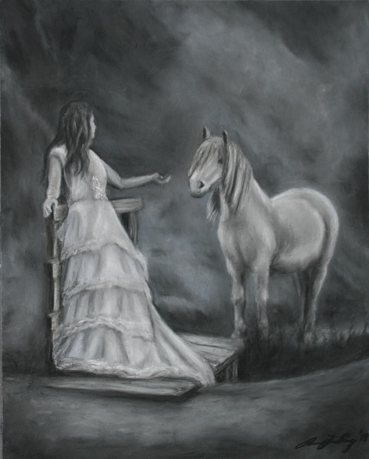 Horse Painting - Beckon by Rachael Curry