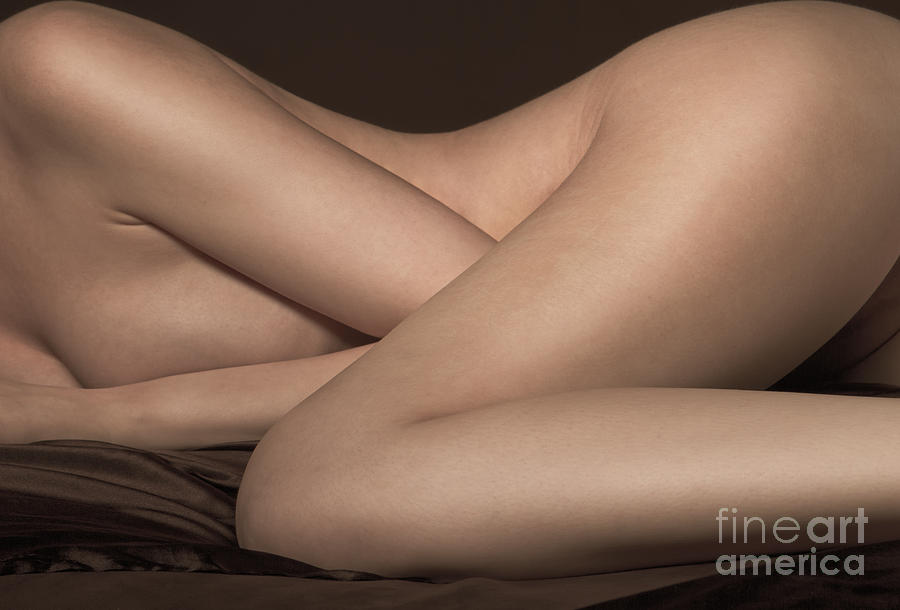 Nude Photograph - Bed Sheets by Naman Imagery