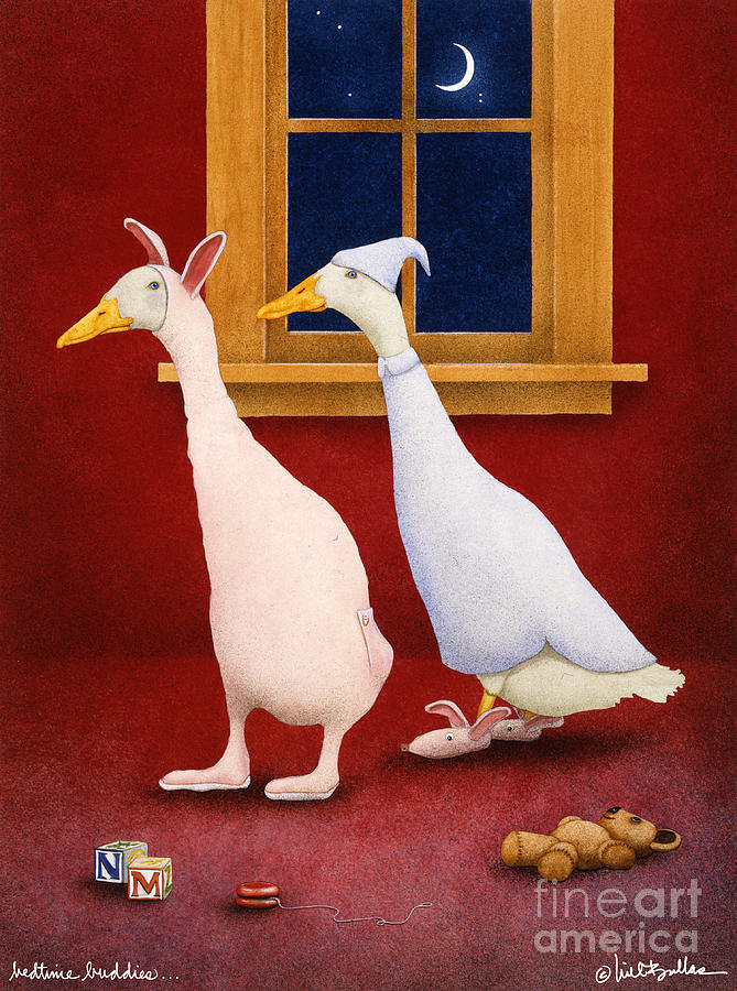 Will Bullas Painting - Bedtime Buddies... by Will Bullas