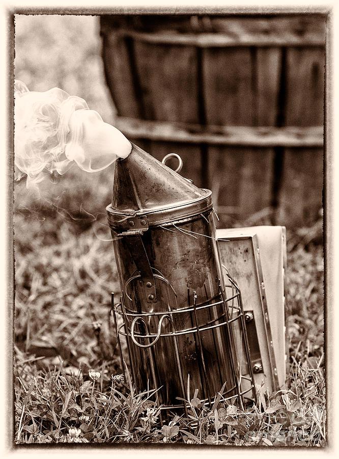 Beekeeper Smoker Sepia Tone Photograph by Iris Richardson