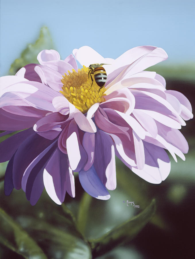 Bee Painting - Bee by Roger Snyder