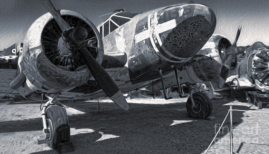 Airplanes Painting - Beech Expeditor Uc-45 - 03 by Gregory Dyer