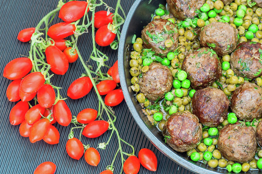 Beef Meatballs With Peas And Lemon Photograph by Olga Solan, The Art Photographer