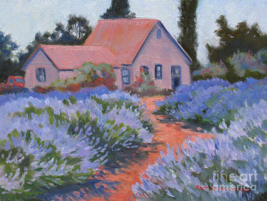 Lavender Painting - Beekman Lavender Field by Rhett Regina Owings