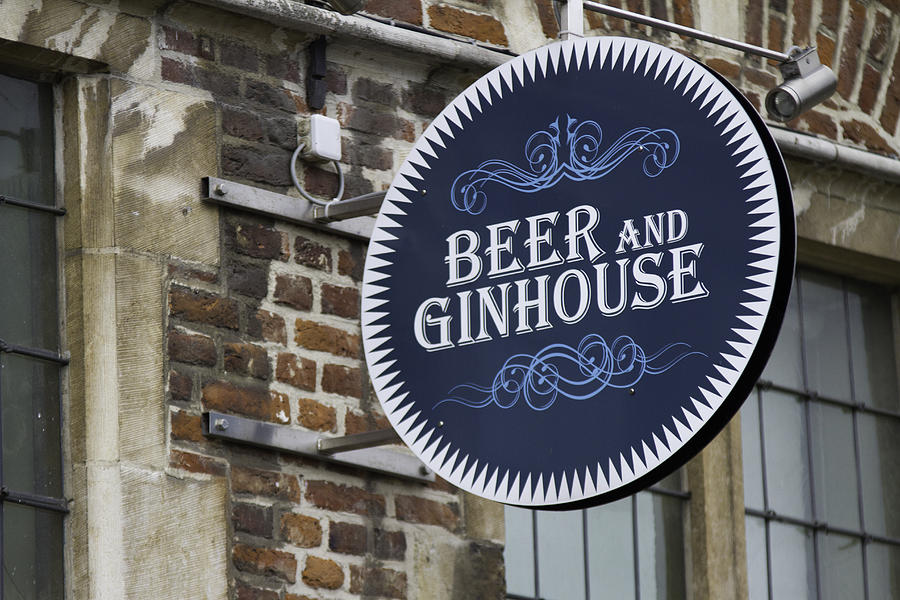 Sign Photograph - Beer And Ginhouse by David Freuthal