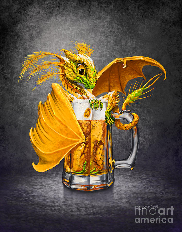 Dragon Digital Art - Beer Dragon by Stanley Morrison