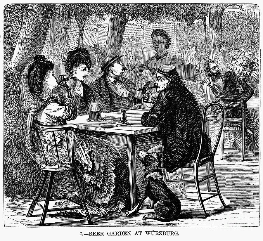 1870 Photograph - Beer Garden by Granger