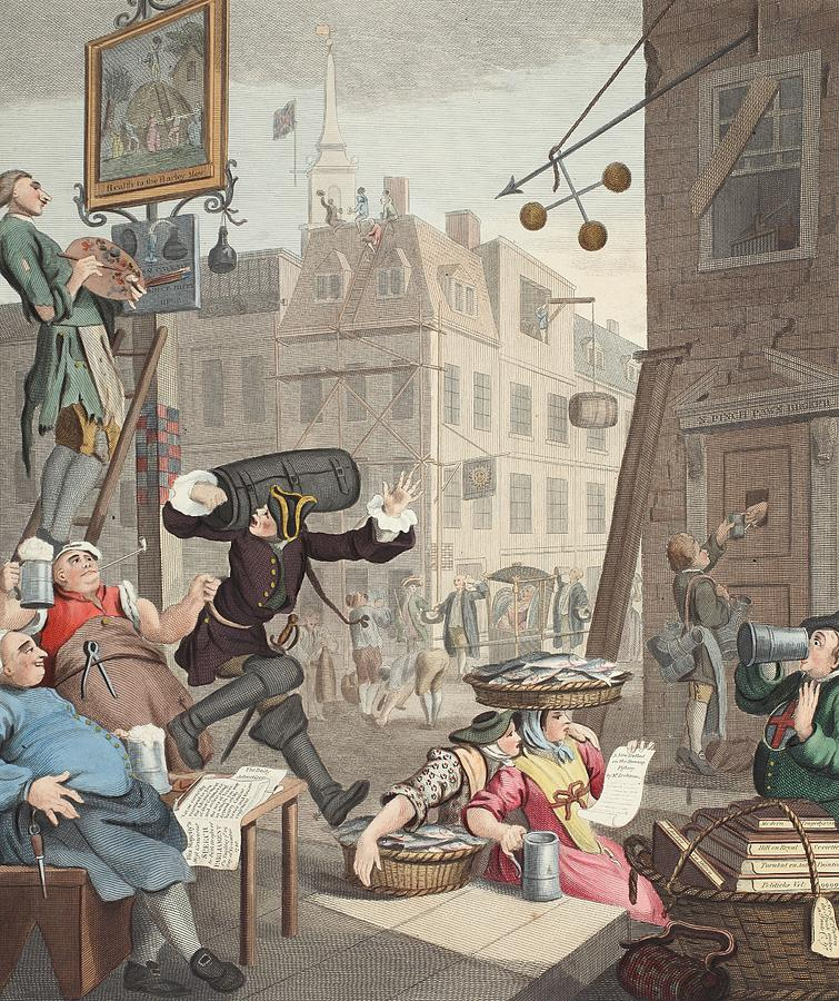 Beer Street Illustration From Hogarth Drawing By William