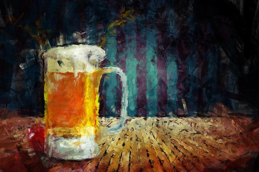 Beer Painting - Beer Time by Adam Vance