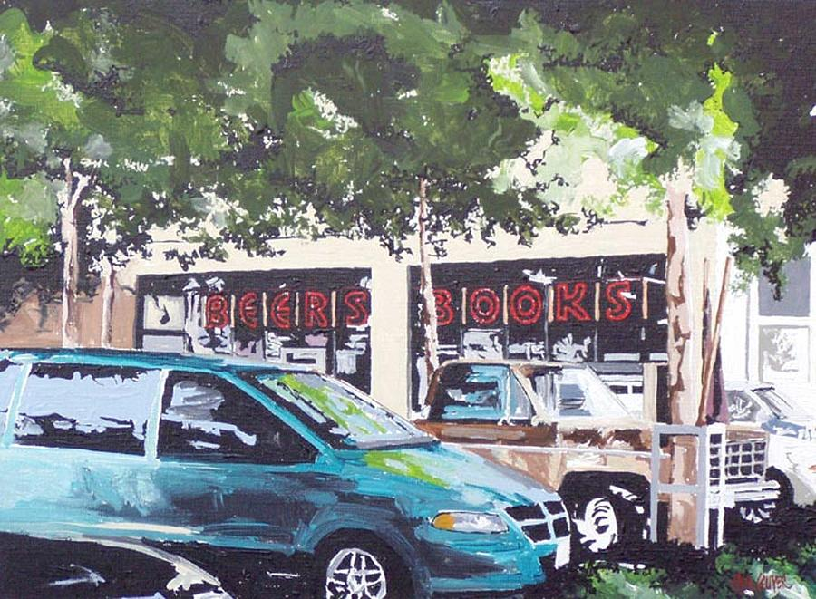Sacramento Painting - Beers Books On L Street by Paul Guyer