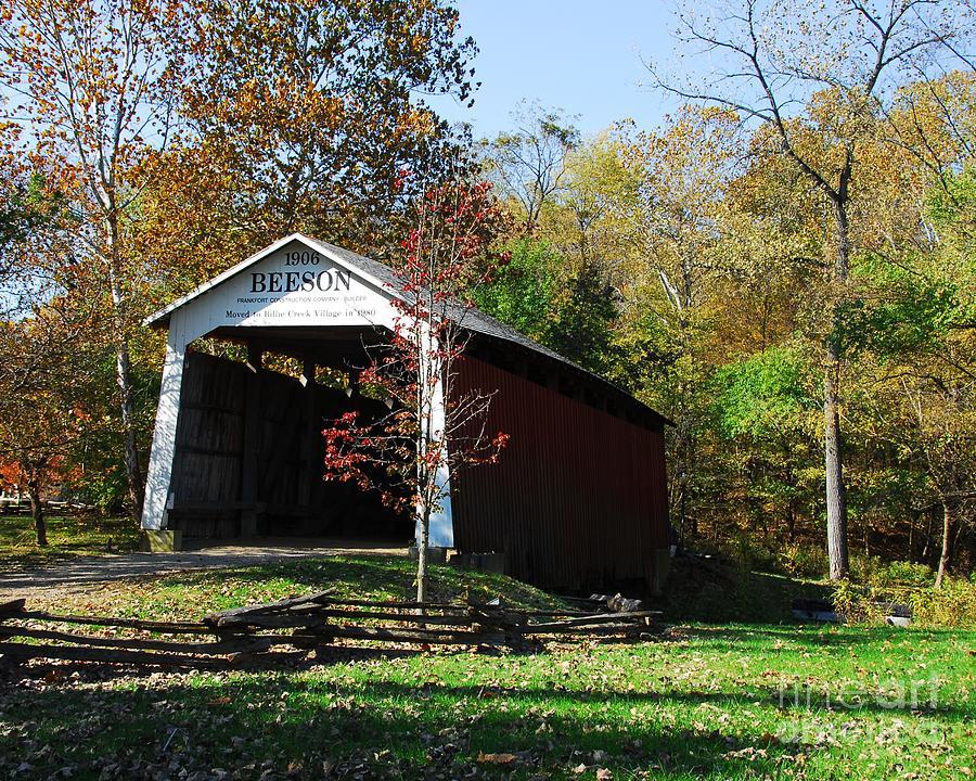 Beeson Covered Bridge Photograph - Beeson Covered Bridge 2 by Mel Steinhauer