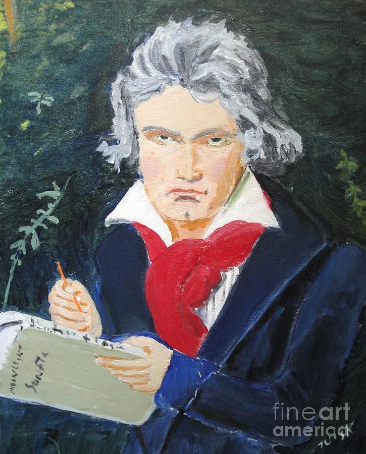 Beethoven Painting - Beethoven by Judy Kay