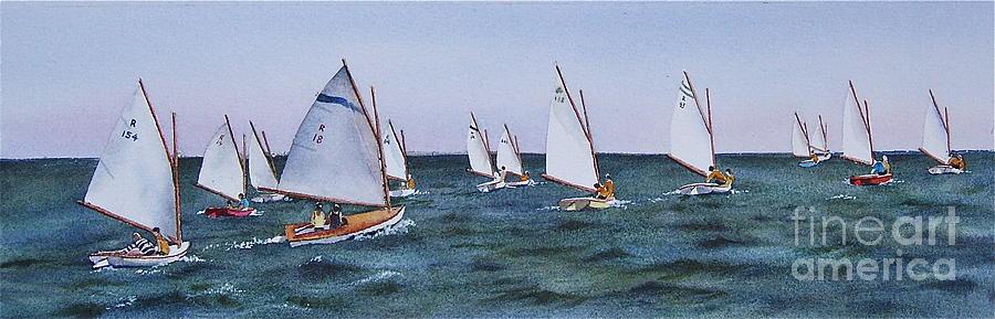 Sailboats Painting - Beetlecat Race by Karol Wyckoff