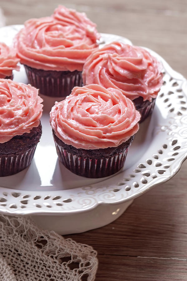 Beetroot & Chocolate Cupcakes Photograph by Kemi H Photography