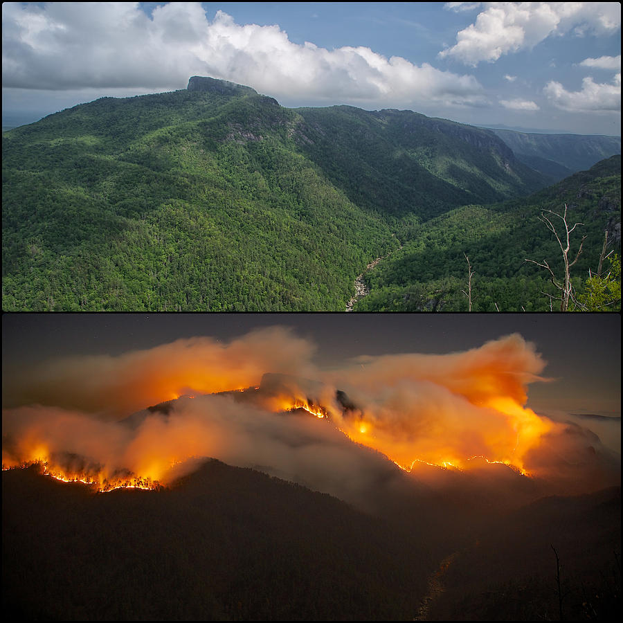Before and During the Table Rock Fire by Mark Steven Houser