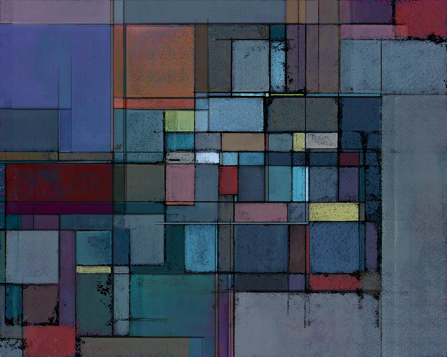 Abstract Painting - Before Dawn by Karyn Lewis Bonfiglio