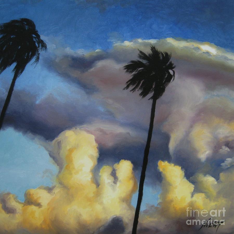 Noewi Painting - Before Sunset by Jindra Noewi