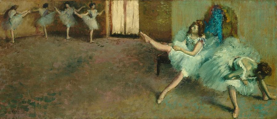 Before The Ballet Painting - Before The Ballet by Edgar Degas
