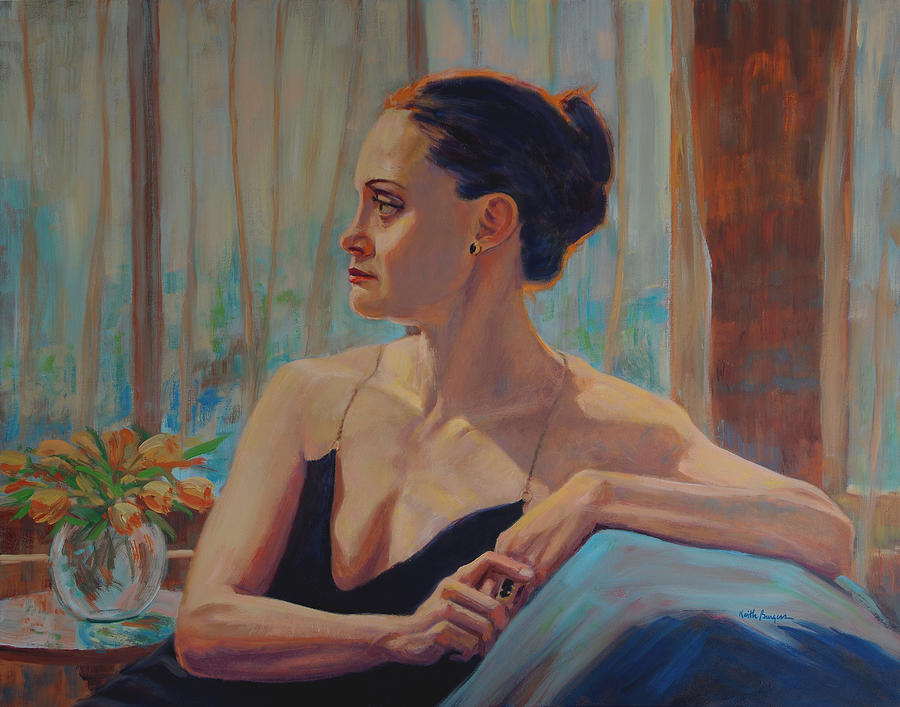 Portrait Painting - Before The Ballet by Keith Burgess
