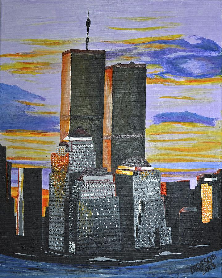 New York Painting - Before The Fall by Donna Blossom