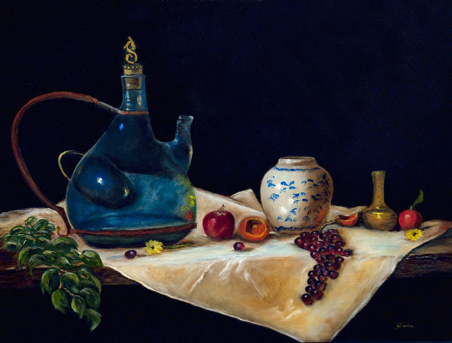 Wine Painting - Before The Sangria by Gina Cordova