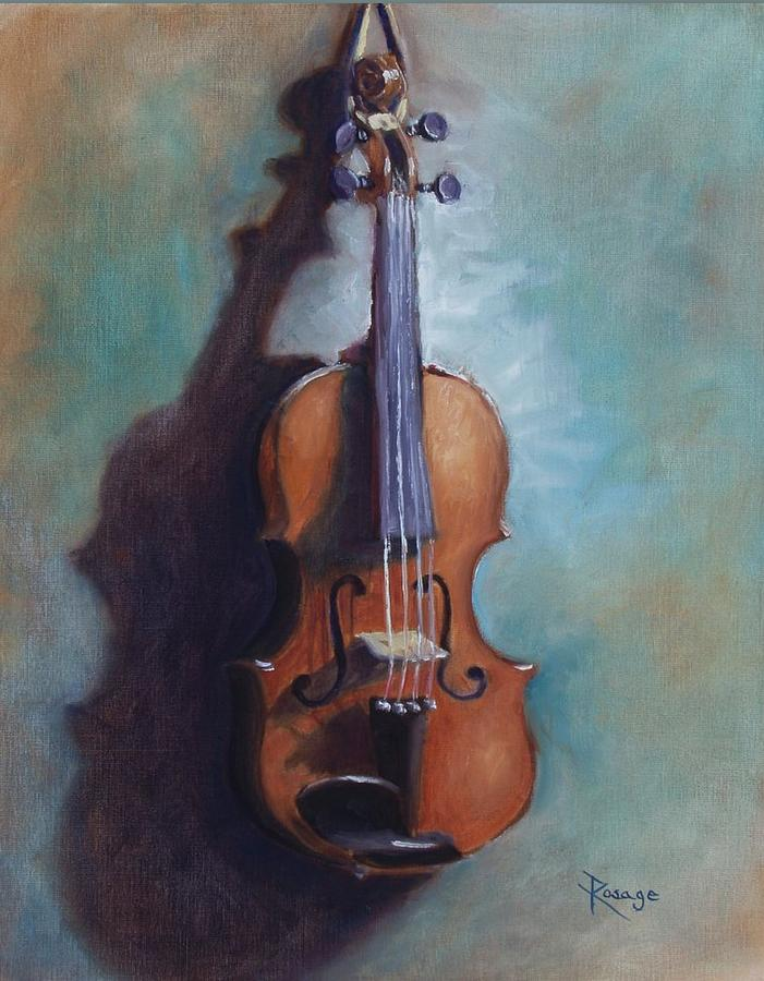 Fiddle Painting - Before The Session by Bernie Rosage Jr
