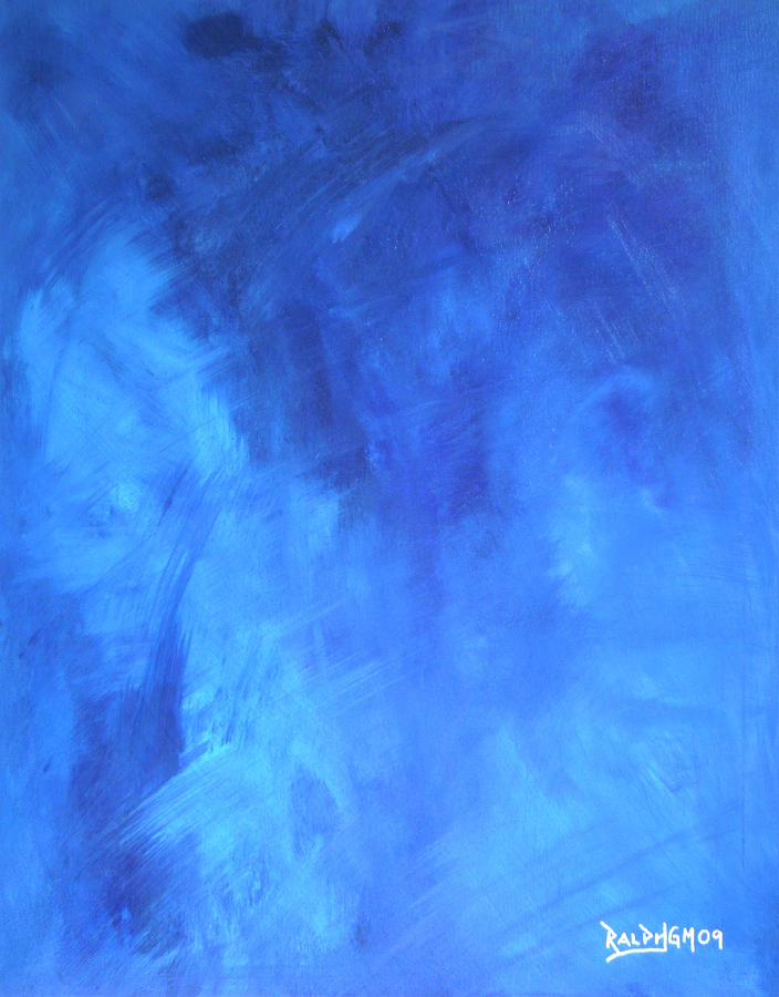 Blue Painting - Before The Shattering 2009 by RalphGM