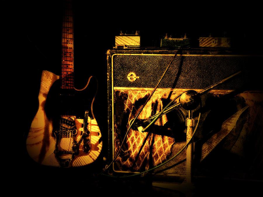 Guitar Digital Art - Before The Show by John Monteath