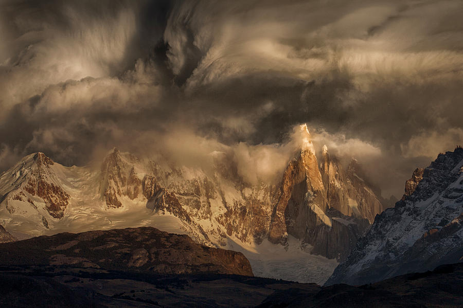 Mountain Photograph - Before The Storm Covers The Mountains Spikes by Peter Svoboda, Mqep