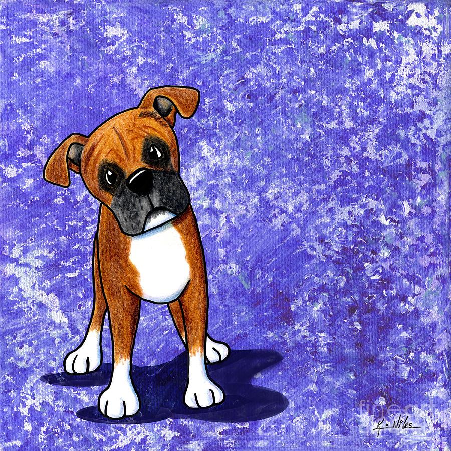 Boxer Painting - Befuddled Boxer by Kim Niles