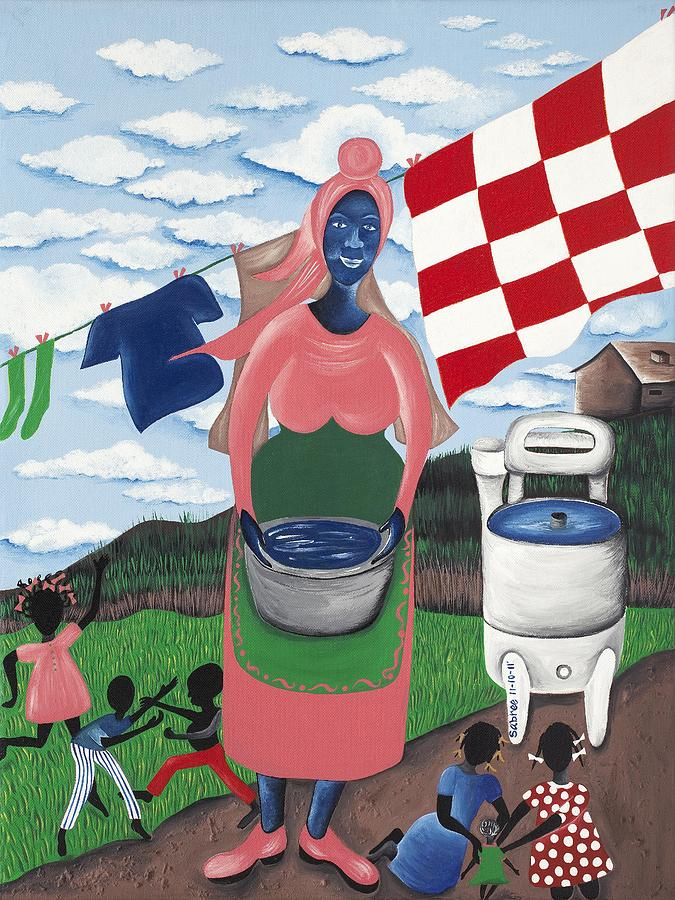 Gullah Artist Painting - Begin With Them by Patricia Sabree
