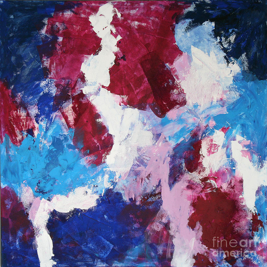 Abstract Painting - Beginning by Mordecai Colodner