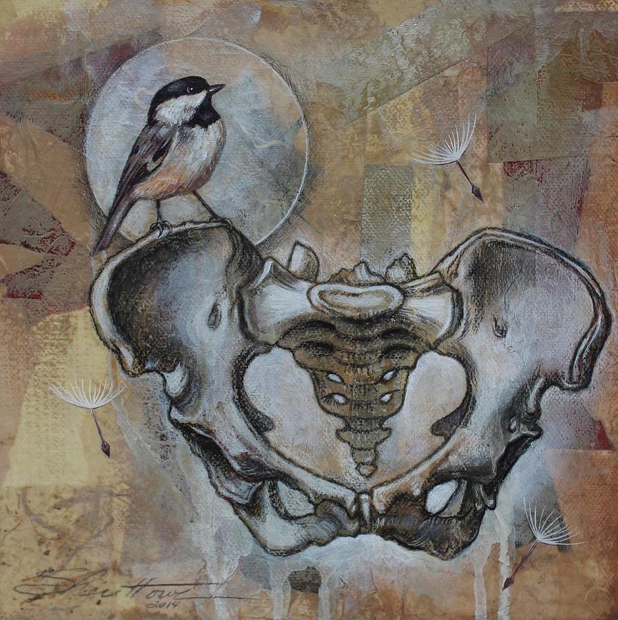 Chickadee Painting - Beginnings by Sheri Howe