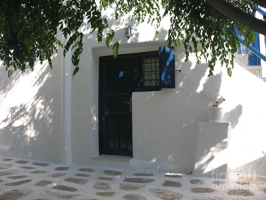 Mykonos Photograph - Behind A Blue Door 2 by Mel Steinhauer