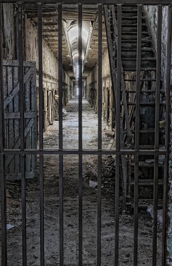 Ruin Photograph - Behind Bars by Don Schroder