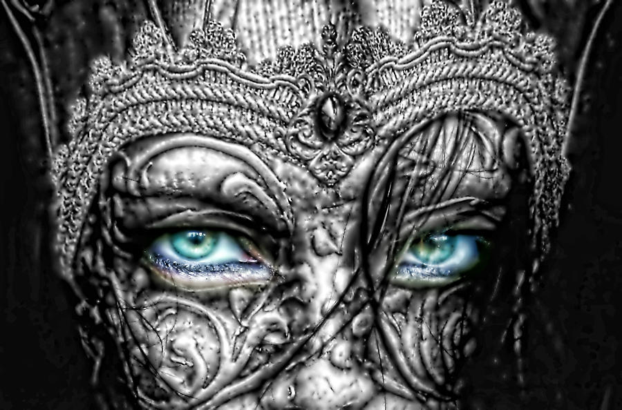 Behind Blue Eyes Photograph - Behind Blue Eyes by Mo T