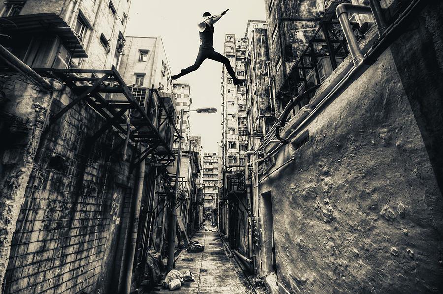 Street Photograph - Behind Street by Junites Uno