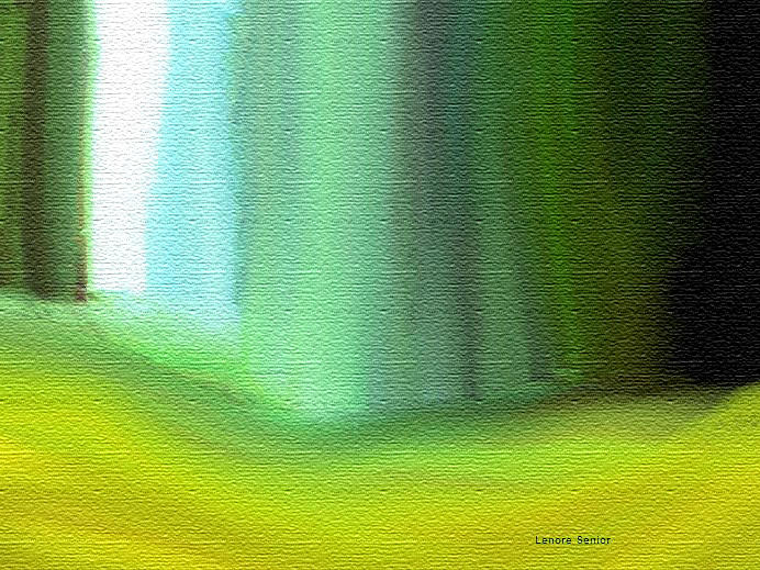 Expressive Painting - Behind The Curtain by Lenore Senior