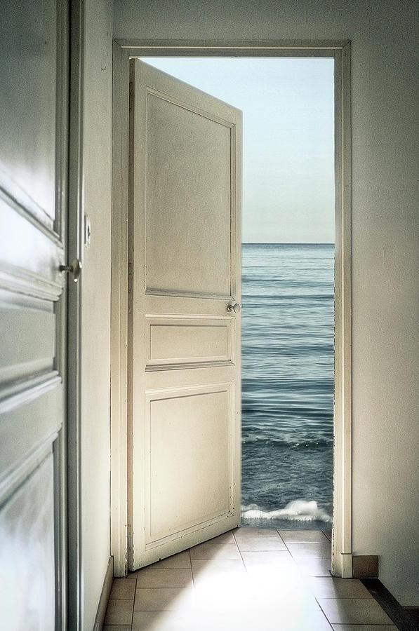 Door Photograph - Behind The Door by Christian Marcel