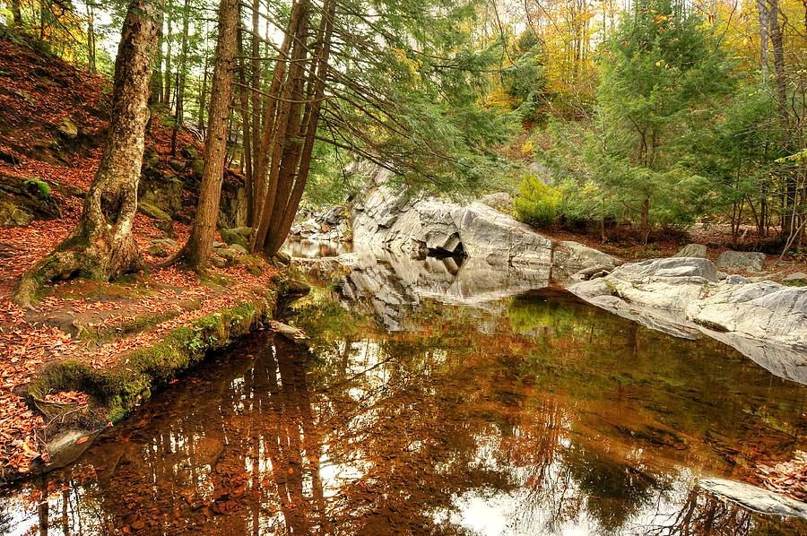 Buttermilk Falls Photograph - Behind The Falls by Dennis Clark