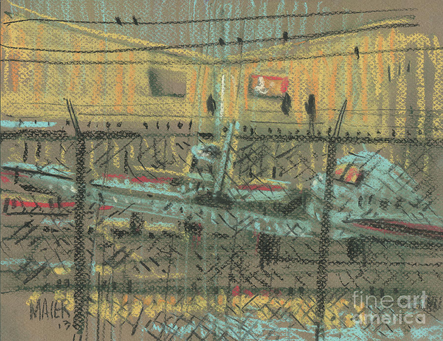 Planes Painting - Behind The Fence by Donald Maier