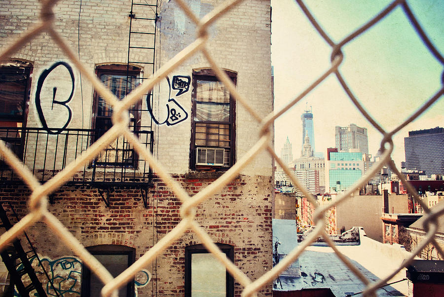 New York City Photograph - Behind The Fence by Emily Stauring